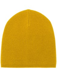 Yves Salomon Casual Beanie Hat Yellow
