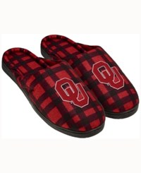 Forever Collectibles Oklahoma Sooners Flannel Slide Slippers Red