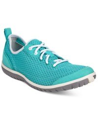 Clarks Privo Women's Ibeeck Lace Up Sneakers Women's Shoes Teal Mesh