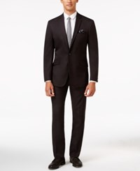 Kenneth Cole Reaction Men's Slim Fit Burgundy Pindot Suit