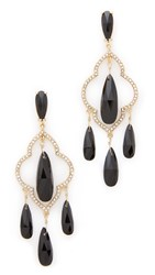 Kate Spade Lantern Gems Chandelier Earrings Black