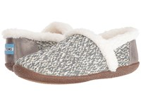 Toms Slipper Silver Glitz Woven Women's Slippers