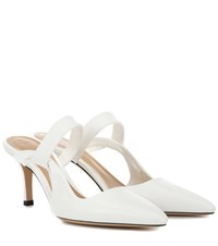The Row Gala Twist Leather Mules White