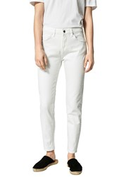 Selected Femme Fida Cropped Jeans White