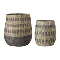 Bloomingville Striped Seagrass Baskets Set Of 2