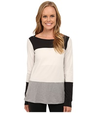 Lole Meg Top Turnip Heather Women's Long Sleeve Pullover White