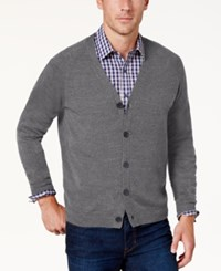 Weatherproof Vintage Men's Soft Touch Cardigan Sweater Med Gray