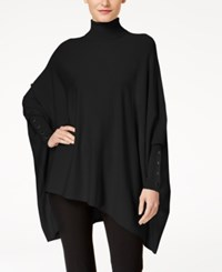 Alfani Turtleneck Poncho Sweater Created For Macy's Deep Black