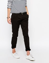 Only Relaxed Fit Chino Trousers Black