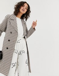 Selected Femme Check Trench Coat Multi