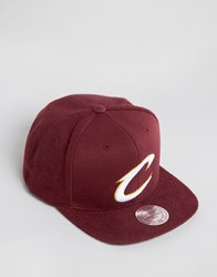Mitchell And Ness Snapback Cap French Terry Cleveland Cavaliers Red