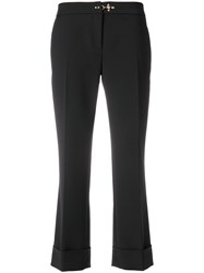 Fay Cropped Trousers Black