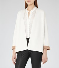 Reiss Casey Womens Open Front Cardigan In White