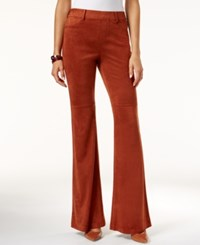 Inc International Concepts Faux Suede Flare Leggings Only At Macy's Rawhide