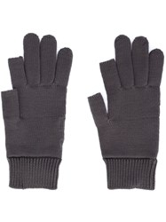 Rick Owens Knit Gloves Grey