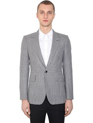 Alexander Mcqueen Prince Of Wales And Houndstooth Jacket Black