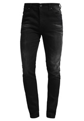 Pier One Slim Fit Jeans Black Denim