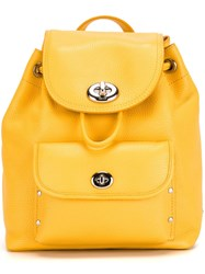 Coach Small Flap Opening Backpack Yellow And Orange