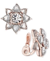 Charter Club Rose Gold Tone Crystal Clip On Stud Earrings Only At Macy's