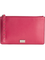 Tod's Wrist Strap Clutch Pink And Purple
