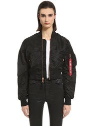 Alpha Industries Slim Fit Nylon Cropped Bomber Jacket