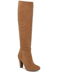 Jessica Simpson Ference Tall Slouchy Dress Boots Women's Shoes Dakota Tan Suede