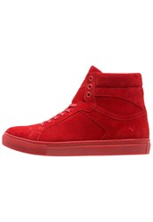Boom Bap Karma Hightop Trainers Red
