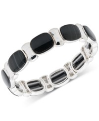 Nine West Multi Stone Stretch Bracelet Black