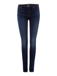 Hudson Jeans Ciara Highrise Exposed Button In Black Denim
