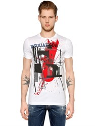 Dsquared Punk Printed Cotton Jersey T Shirt