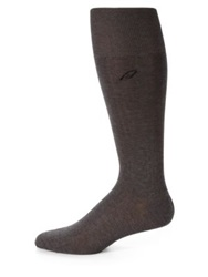 Brioni Ribbed Cotton Dress Socks Medium Grey