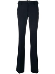 Pt01 Tailored Flared Trousers Blue