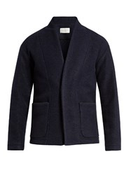 Tomorrowland Closed Collar Wool Blend Jacket Navy