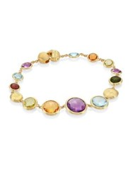 Marco Bicego Jaipur Semi Precious Multi Stone And 18K Yellow Gold Bracelet Gold Multi