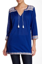 J. Mclaughlin Paget Solid Tunic Blue
