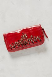 Anthropologie Borchie Studded Wallet Red