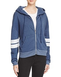 Wildfox Couture Varsity Stripe Hoodie 100 Bloomingdale's Exclusive After Midnight Blue