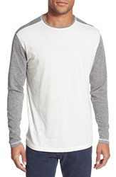 Men's Agave 'Frederic' Marled Long Sleeve T Shirt Egret