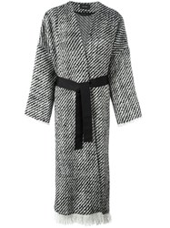 Isabel Marant 'Iban' Tweed Coat Black