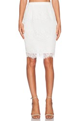 Style Stalker Elliot Pencil Skirt White