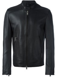 Desa 1972 Zip Up Biker Jacket Black
