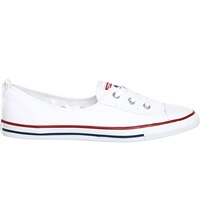 Converse Ctas Lace Up Ballet Flat Trainers Optical White