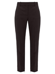 Nili Lotan Leo Wool Blend Twill Slim Leg Trousers Black