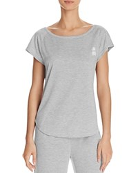 Psycho Bunny Luxe High Low Tee Light Heather Gray