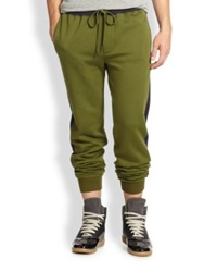 Marc By Marc Jacobs Roy Stretch Cotton Sweatpants Fatigue Green
