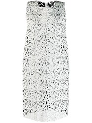 Gianluca Capannolo Floral Lace Short Dress White