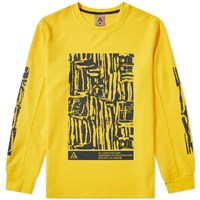 Nike Acg Long Sleeve Waffle Top Yellow