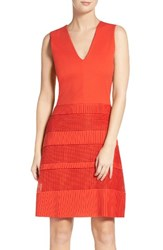 French Connection Women's Pleated Lace Dress Sunset Wave