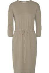 Allude Cotton Dress Army Green