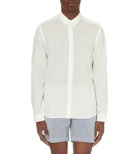 Orlebar Brown Morton Tailored Fit Linen Shirt White